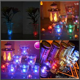 Wholesale Led Tealight Candles Submersible Decorations - Waterproof LED Submersible Candles Tealight Lamp Fish Tank Vase Decor Lighting For Wedding Birthday Party Bar Decoration 9 Led light color