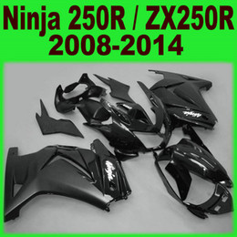 Wholesale Zx 14 Fairing Set - Injection molding ABS full fairing kit for kawasaki Ninja 250R 2008-2014 ZX250R ZX 250 08-14 EX250 all glossy black fairings set Ft37
