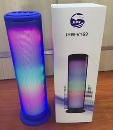 Wholesale Dancing Light Speakers - JHW-V169 Colorful Dazzle LED Light Pulse Dancing Wireless Bluetooth Speaker Portable Outdoor Stereo Music Surround Music Player Handsfree