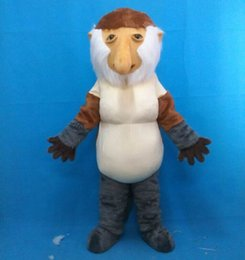 Wholesale monkey adult mascot - 100% real photo free shipping brand new proboscis monkey mascot costume suit for adults to wear for sale