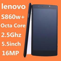 Wholesale Cheap Unlock Smart Phones - Original Lenovo phone Cheap smartphone outdoor Android lenovo S860 5.5'' cecular 3G S860 16MP MTK6592 unlocked cell phone octal core