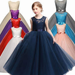 Wholesale Tutu Design For Baby - Girl Party Wear Dress 2017 New Designs Kids Children Wedding Birthday Dresses For Girls Baby Clothing Teenage Girl Clothes 6-14T