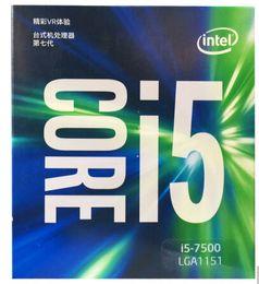 2019 escritorio intel i5 Procesador Intel Core i5 7500 Quad Core LGA 1151 3.4GHz TDP 65W 6MB Caché 14nm CPU de escritorio rebajas escritorio intel i5