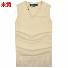 Wholesale Men Sleeveless Sweaters - Fall-Men's vest sleeveless sweater knitting clothing 100% cotton v-neck shirt free shipping cashmere popular style men's vest retail
