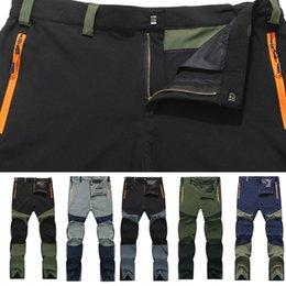 Wholesale Winter Climbing Pants - Men Sports Casual Windproof and Breathable Trousers Outdoor Hiking Cycling Climbing Trouser Tactical Cargo Pants Cambat Wearable Trousers