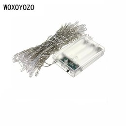 Wholesale Xmas Lights For Sale - Wholesale- 5M 50 LED Battery Operated LED String Lights for Xmas Garland Party Wedding Decoration Christmas Flasher Fairy Lights On Sale