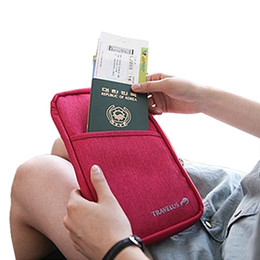 Wholesale Hot Journey - Wholesale- 2016 Passport ID Card Cover Passport Holder HOT Fashion Travel Journey Canvas Case Wallet Purse Organizer Credit Card Holder