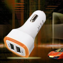 Wholesale High Voltage Adapter - USB Car Chargers High quality Micro Auto Universal Dual 2 Port 2.1A Mini Car Charger Adapter