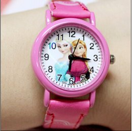Wholesale Watch Wholesaler Store - Children Watch Princess Elsa Anna Watches Fashion Girl Kids Student Cute Leather Sports Analog Wrist Watches New Store Promotion Item