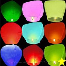 Wholesale Sky Balloon Free Shipping - free shipping Sky Lanterns,Wishing Lantern fire balloon Chinese Kongming lantern Wishing Lamp For Wedding Party Balloons & Lights