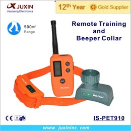 Wholesale Tpu Dog Collars - Waterproof and Rechangeable+ TPU Material +500 Meters Remote Range Dog Beeper and Training Collar