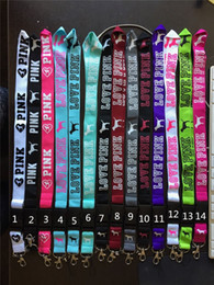 Wholesale Pink Camera Strap - Pink Cellphone Lanyard Detachable Straps with Metal Clip For Camera iPod Mobile Phone Multi Color Keychain Lanyard free DHL