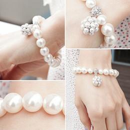 Canada Hot New Bracelet personnalisé boule de perles coréenne dame douce ornements bijoux brins de perles Bracelets Bracelets de perles Offre