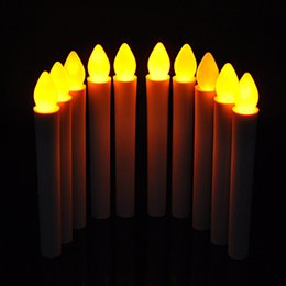 Wholesale Novelty Candle Light - LED Long Pole Candle Light Flashing Candles Light Table Lamp Novelty Candle Battery Operated LED Flickering Dinner Candle Christmas Gift