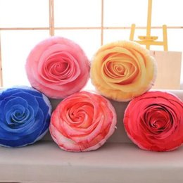 Wholesale Print One Sided - 35cm Creative Removable Washable Simulation Flower Double-sided Printed Plush Pillow Toy Stuffed Sofa Cushions Kids Xmas Gift CCA8262 50pcs