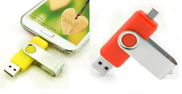 Wholesale mobile specials - Mobile U disk 32GB creative OTG Dual USB flash drive USB special offer free 32GB U Disk shipping personality characteristics 100pcs lot