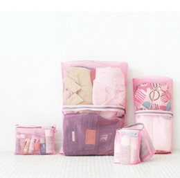 Wholesale Cheap Travel Bags For Men - Designer Cheap Travel Zipper Bag For Womens And Mens Utility Luggage 4PCS Sets Ladies Makeup Organizer Solid Color Cosmetic Pouch Container