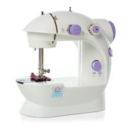 Wholesale Free Sewing Supplies - Hot Sell ABS Electric Household Mini Sewing Machine Dual Speed with Power Supply Small Clothes Fabric Sewing Machine Free Ship