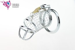 Wholesale Wire Chastity - Male Chastity Cage Wire Cock Penis Cage Male Chastity Devices Dildo Bondage SM Sex Toys for Couples