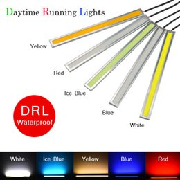 Wholesale Universal Led Daylights Car - 1Pcs 2015 New Ultra Bright 17cm LED Daytime Running lights 100% Waterproof COB Daylight Car light Source DRL Driving Fog lamp