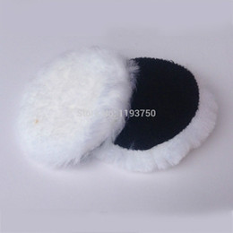 "Wholesale Car Bonnets - 2pc 180mm 7"" inch Wool Polisher Bonnet Car Polishing Pads For Car Care hook&loop Free Shipping"
