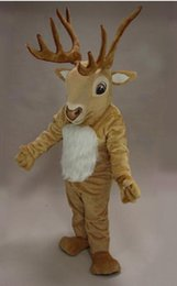 Wholesale Cartoon Deer Birthday Party - hot sell Mascot tradediscount High quality Golden Sika Deer Mascot Costume Animal Cartoon costume Halloween Birthday Party Costume Outfit