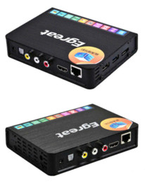 Wholesale Android Hdd Media Player - Free shipping New Egreat R6S 3D HD 1080p HDMI 1.4 BluRay Network 2.5'' 3.5''SATA HDD Media Player Realtek 1186