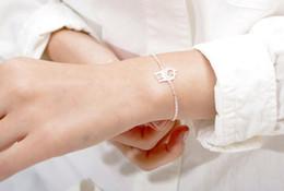 Wholesale Twin Lovely - 10PCS- B023 Gold Silver Simple lovely Twin Giraffe Deer Bracelet Animal jewelry for couples