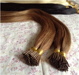 Wholesale Hair Fusion Sale - 2015 Summer Sale Premium Indian Remy I Stick Tip Human Hair Extension,Gorgeous 8-32'' Soft Straight Keratin Fusion Tip I Tip Pre-bonded Hair