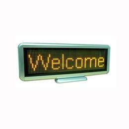 2019 wifi llevó señal Pantalla LED Signo LED Signos comerciales Caracteres amarillos Tablero de mensajes LED Múltiples idiomas incorporados Batería de alta calidad C1664Y