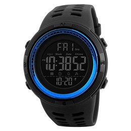 Wholesale Led Digital Count Up - Mens Digital Sport Watch Led Electronic Military Wrist Watch With Alarm Stopwatch Count Down Calendar Date Window