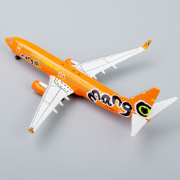 Wholesale Toy 737 - Wholesale-Inflight 500 Airlines 1:500 Scale Mango Boeing 737-800 ZS-SLG Die-Cast Collectibles Toys Airplane Model Juguetes Gift Orange
