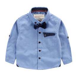 Wholesale Export Baby - 2016 Top Fashion Hot Sale Pink Export Brand Baby Boy Clothes Kids Clothing Boys & Shirts Bow Gentle Childrens Fashion British Western Style