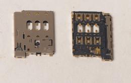 Wholesale Dual Sim Card Reader - Wholesale-10 Pcs Original New SIM Card Slot Tray Holder Reader For HTC Desire 816 D816d D816n D816w Dual SIM Repair Part Free Shipping