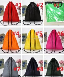 Wholesale College Shoes - Drawstring debris 210D Oxford cloth drawstring Swimming Travel Kits storage bag waterproof bag shoes beach swimming bag pocket M736