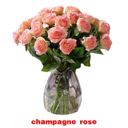 Wholesale Latex Rose Bouquet - S5Q 10x Latex Rose Flower Craft Bouquet Decoration For Wedding Home Office Hotel AAAECD