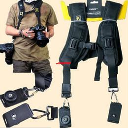Wholesale Dslr Camera Body - Quick Strap Double Shoulder Belt Strap Neck Strap for SLR DSLR Professional Camera
