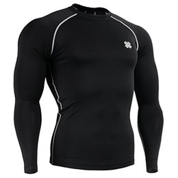 Wholesale Mens Long Running Shirt - Wholesale-Fixgear Mens Womens Running Under Compression Shirt Long sleeve Top S ~ 4XL