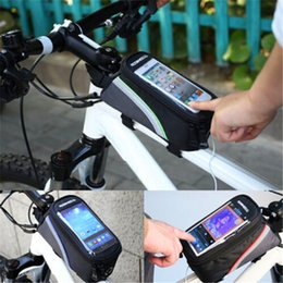 Wholesale bicycle accessories panniers - 2016 hot sale Waterproof Cycling Sport Bike Accessories Bicycle Frame Pannier Front Tube Bag free shipping
