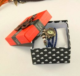 Wholesale Box For Pack Watches - Watch Box Packing box with Pillow Paper Gift Case For Jewelry Watch 8.8CM*8.8CM*6CM JJD11080340