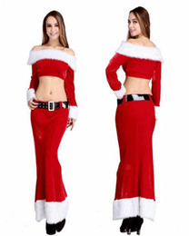 Wholesale Santa Claus Mascot - 2015 new Christmas costumes COSPALY mascot Comprising jacket skirt Belt game uniforms role-playing game uniforms Halloween costume