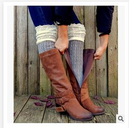 Wholesale Wholesale Hollow Knee Boots - 9 Colors Women Leg Warmers Fashion Lady Hollow out Cotton Leg Socks High quality Winter Knee Boot Socks Girls Boot Cuff Socks R1294