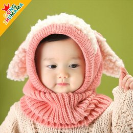 Wholesale Crochet Puppy Hats - 2015 hot Baby crochet Hat Boys Girls Children Knit Winter Warm cap Puppy Beanie hat free ship