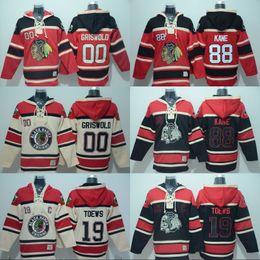 Wholesale Brown Sweater Xl - 2017-18 Chicago Blackhawks Custom Hoodies Jersey 00 Clark Griswold 19 Jonathan Toews 88 Patrick Kane Sweater Hoodies Jerseys