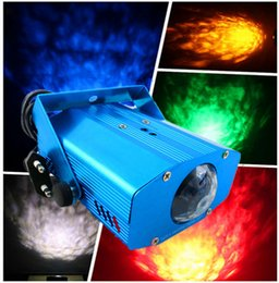 Wholesale Ripple Mini - LED Water Ripples Light Mini LED Stage Lighting Colorful Wave Ripple Shining Effect Retail Box for Party Disco Concert Balls Party By DHL