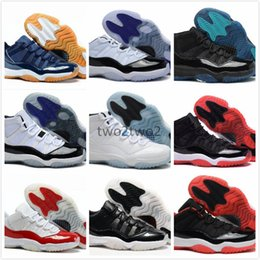 Wholesale Silk Boxes For Men - Retro 11 Chicago Gym Red 11s Midnight Navy Mens Basketball Shoes For Men Women Space Jam 45 Legend Blue Sneakers 2017 With Box