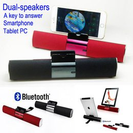 Wholesale Portable Speaker Brands - 2015 Brand iKANOO Portable Wireless Bluetooth speaker Built-in Mic Handsfree Call & Music Speakers SOUND BAR For Smartphone,tablet PC,ipod