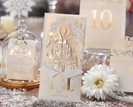 Wholesale Wedding Card Envelope Designs - Wedding Invitations Cards Personalized Bride Laser Cut Wedding Invitations Cards New Design Printable with Envelope and Seal