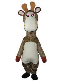 Wholesale Giraffe Mascots - Factory Outlets new fashion beautiful miss Giraffe Halloween Fancy Dress Cartoon Adult Animal Mascot Costume free shipping