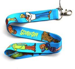 Wholesale Key Charm Lanyards - Free shipping Lot 10pcs lot Captain Scooby-Doo Mobile Phone lanyard Key chain straps charms Wholesale